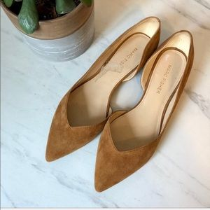 MARC FISHER Cognac Brown Leather NWOT Flats 6